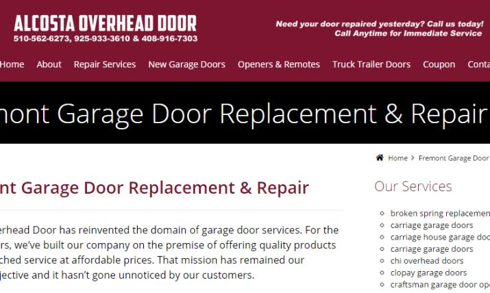 Alcosta Garage Door Repair